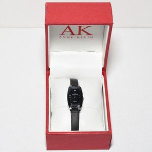 NIB Anne Klein Diamond with Leather Band Watch